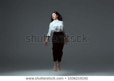 ジャンプ 裸足 ブルネット 顔 女性 ファッション ストックフォト © Paha_L