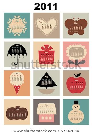 Streszczenie 2011 serca tle tapety uroczystości Zdjęcia stock © pathakdesigner