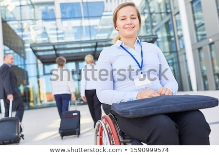 Businesswoman in a wheelchair Stock photo © photography33