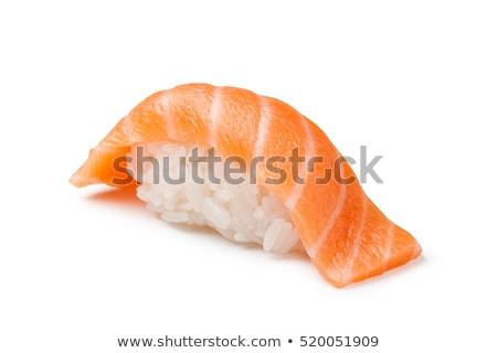 Sushi somon yalıtılmış beyaz Stok fotoğraf © Givaga