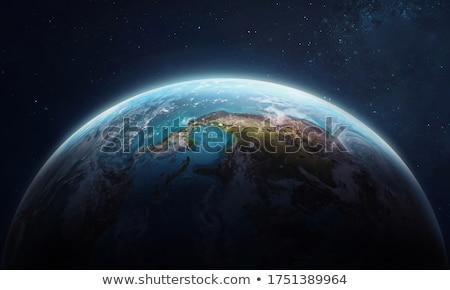 Mavi dünya gezegeni gökyüzü dünya ayna gezegen Stok fotoğraf © njaj