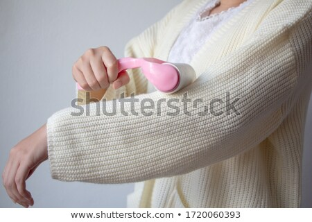 beautiful woman handling sticky tape Stock photo © Rob_Stark
