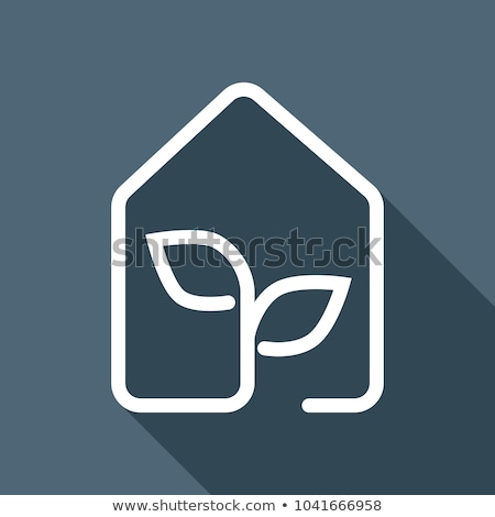 Icon witte huis gras abstract Stockfoto © gladiolus