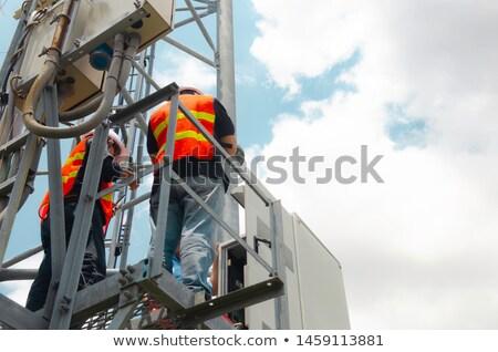 Stock photo: Telecommunication duo.