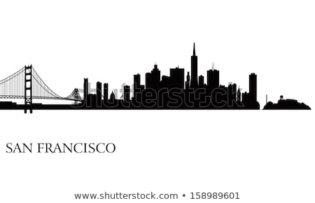 Сток-фото: San Francisco City Skyline Panorama Illustration