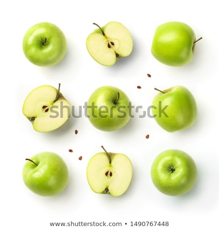 seamless pattern with slices of green apple stock photo © boroda
