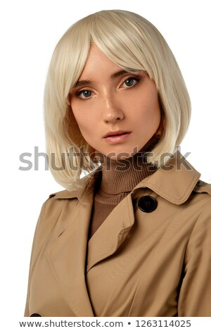 Portrait of a pretty blonde woman with a blunt fringe Stock photo © photography33