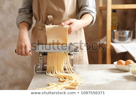 young woman handling dough Stock photo © Rob_Stark