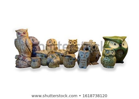Stock photo: wooden carved Owl