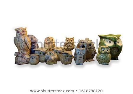 speelgoed · uil · boom · exemplaar · ruimte · natuur · ruimte - stockfoto © witthaya