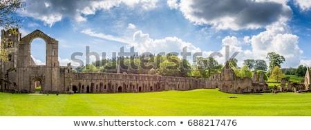 аббатство средневековых монастырь север Йоркшир пейзаж Сток-фото © chris2766