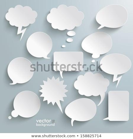 Establecer vector papel cómico nubes burbujas Foto stock © orson