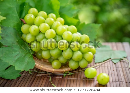 basket with fresh green grapes  Stock photo © marylooo