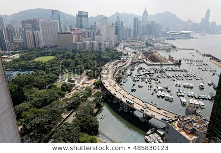Hongkong centrum wybrzeża biuro budynku domu Zdjęcia stock © kawing921