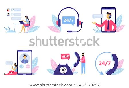 ホットライン サービス オフィス 電話 インターネット 目 ストックフォト © photography33