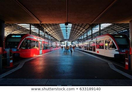 современных железнодорожная станция архитектура внешний мнение белый Сток-фото © raywoo