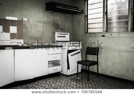 empty cupboards in abandoned kitchen Stock photo © sirylok