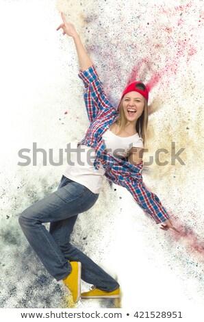 hip pop dancer jumping stock photo © get4net