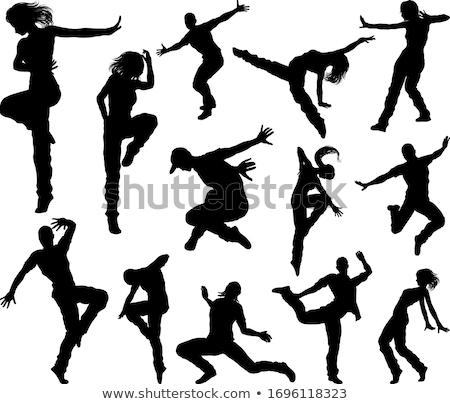 jumping · ballerino · moderno · hip · hop · stile - foto d'archivio © carlodapino