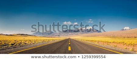 drogowego · wyspa · krajobraz · górskich · niebieski - zdjęcia stock © compuinfoto