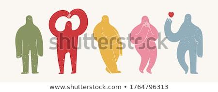 Estranho moço retrato seis isolado branco Foto stock © zittto