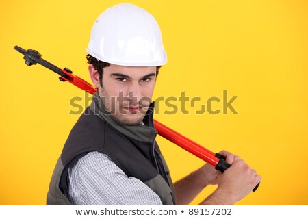 Manual worker posing with bolt cutters Stock photo © photography33