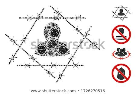 bioveszély · felirat · izolált · fehér · háttér · citromsárga - stock fotó © oneo2