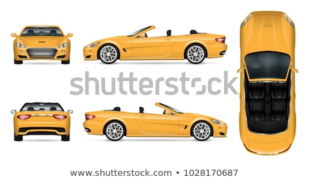 yellow supercar isolated on white front view Stock photo © goce