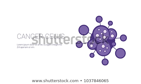 cancer cells on white background stock photo © lightsource