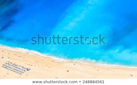 Plaj su ağaçlar okyanus mavi Stok fotoğraf © Bertl123