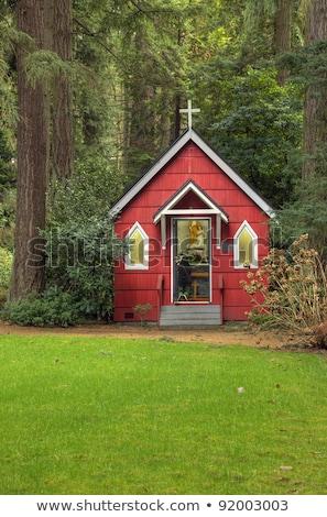 チャペル 森 オレゴン州 hdr 森林 岩 ストックフォト © Rigucci