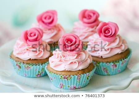 Beker gebak bruiloft kijken kleurrijk Stockfoto © KMWPhotography