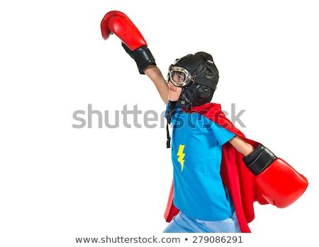 Stock fotó: Portré · fiú · szuperhős · fehér · gyermek · férfi