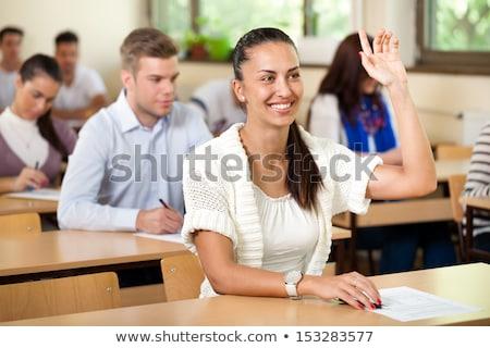 studente · questione · rispondere · sorridere · maschio · Università - foto d'archivio © hasloo