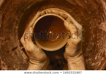 tekerlek · kadın · bitmiş · oluşturma · çanak · çömlek · kadın - stok fotoğraf © obscura99