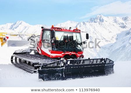 Red machine for skiing slope preparations Stock photo © macsim