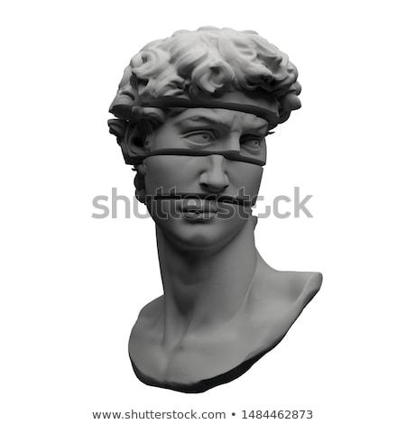 厳しい · ヴィンテージ · 男 · レトロスタイル · 黒白 · 肖像 - ストックフォト © curaphotography