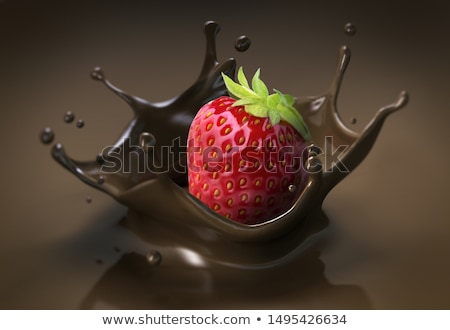 Strawberries with melted Chocolate Stock photo © M-studio