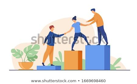 наверх бизнеса знак синий цвета успех Сток-фото © silense