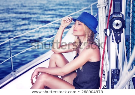 ship model on summer beach at sunset stock photo © photocreo