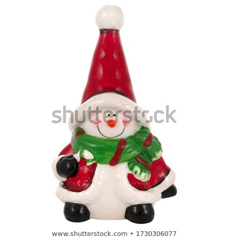 Karácsony szobrocska kémény háttér játék szín Stock fotó © grafvision