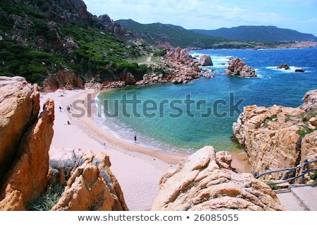 Sardinia - pink granite rocks Stock photo © Antonio-S