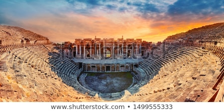 древних · амфитеатр · руин · Турция · пейзаж · небе - Сток-фото © mikko
