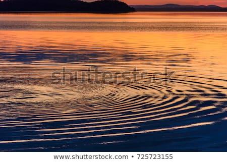 Tramonto ripple acqua panorama sfondo Ocean Foto d'archivio © mycola