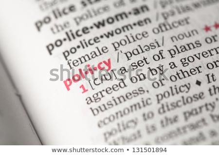 Irányvonal szótár meghatározás szó puha fókusz Stock fotó © chris2766