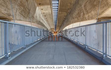 Elhagyatott székek autópálya híd hdr kép Stock fotó © CaptureLight