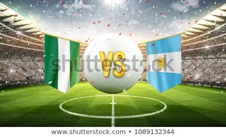 piłka · nożna · meczu · Nigeria · vs · Argentyna · piłka · nożna - zdjęcia stock © smocker03