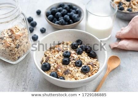 Kom müsli yoghurt voedsel wellness dieet Stockfoto © M-studio