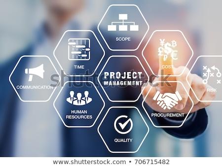 acessar · gestão · negócio · alto-falante · texto - foto stock © marinini