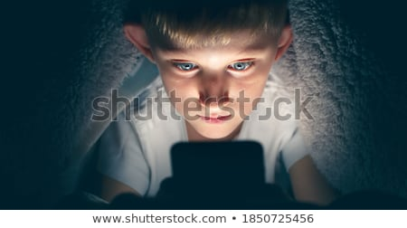 Young boy on internet Stock photo © georgemuresan